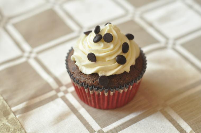 Šokoladiniai keksiukai su kava ir brendžiu