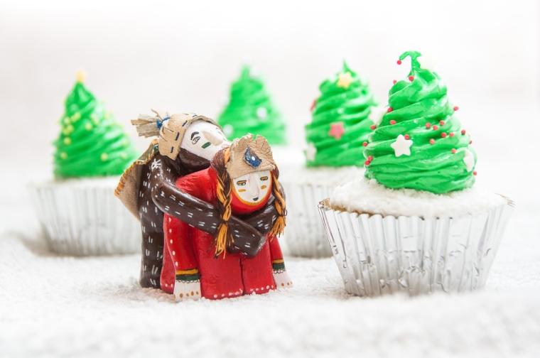 Kalėdiniai keksiukai su džiovintais vaisiais